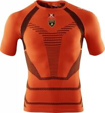 X-Bionic Lamborghini Running Shirt Short Man Orange Sunshine-Black