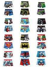 Boys Character Boxer Shorts Cartoon Superhero Marvel Underwear Trunks Pants 2-10