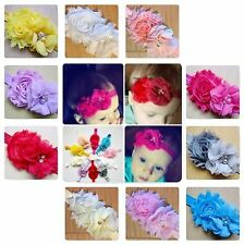 Baby Girls Headband Soft Head Elastic Band Hairband Flower Bow Hair Accessories