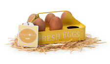 Yellow Egg Collecting Tray & Chicken Feed Storage Tin Enamelware Burgon & Ball