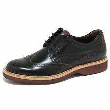 6468N scarpa HOGAN H 217 ROUTE DERBY nero scarpe uomo shoes men