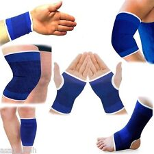 2 BLUE Elastic Wrist Glove Palm Hand Support Arthritis Brace Sleeve Supports UK