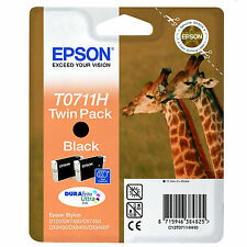 Cartuccia Stampa EPSON STYLUS Nera Twin Pack T0711H / C13T07114H10