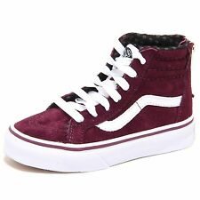7574N sneakers bimbo VANS HI ZIP bordeaux con zip shoes kids