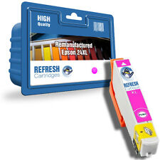REMANUFACTURED (NON-GENUINE) 24XL MAGENTA HIGH CAPACITY INK CARTRIDGE FOR EPSON