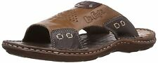 Lee Cooper Men's Tan Leather Flip Flops Thong Sandals (COD SERVICE AVIABLE)
