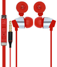 Earphones HeadSet Handsfree Compatible For Lenovo With 3.5mm Jack - Red