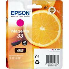 ORIGINAL EPSON (ORANGE) 33 SERIES MAGENTA INK CARTRIDGE (C13T33434010 / T3343)