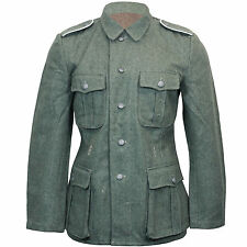 GERMAN Army M40 DOMAINE GRIS Laine TUNIQUE WW2 Repro Wehrmacht Veste Manteau