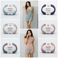 Katia Lunis Mercerized Cotton Yarn for Knitting & Crochet Crafts Spring Summer