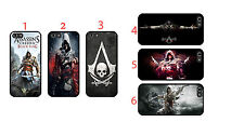 Assassin's Creed iPhone 4s 5s 6 Samsung S3 4 5 6 Sony HTC Case cover new Black