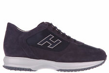 HOGAN SCARPE SNEAKERS UOMO CAMOSCIO NUOVE INTERACTIVE H FLOCK BLU SHOES MEN' C59