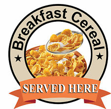 Breakfast Cereal SIGN Catering shop Sign Window sticker Cafe Restaurant decal