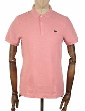 Lacoste Live   S/S Rib Collar Polo Shirt   Corals Chine   RRP £ 75
