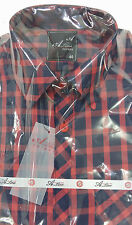 Gents Formal Shirt Blue Red Checked* New Diwali Collection (SH33)
