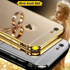 LUXURY MIRROR BACK ALUMINIUM METAL BUMPER Cover Case For Apple iPhone 6 6s Gold
