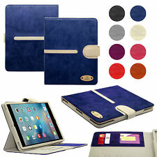 New Luxury Suede Leather Smart Flip Wallet Stand Case Cover For All Apple iPads