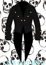 Halloween Mens Tailcoat Steampunk Goth Victorian Swalowtail Jacket (All Sizes)