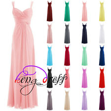 Stock Cheap Formal Prom Party Evening Gowns Long Wedding Bridesmaid Dresses 6-20