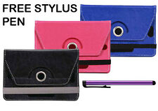 Tablet Book Flip Case Cover For Domo Slate X15 Tab (Universal) (Free Stylus)