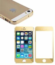 Gold Tempered Glass + Bumper Case Combo For Apple iPhone 4/4S 5/5S 6/6S