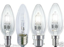 HALOGEN CANDLE E14 E27 B22 B15 LOW LAMPS ENERGY SAVING LIGHT BULBS DIMMABLE NEW