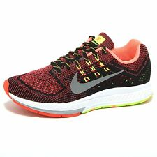 1187O sneaker NIKE AIR ZOOM STRUCTURE nero/arancione scarpe donna shoes women