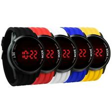 Mode Homme Sport Montres LED Touch Digital Ultra Fine Silicone Montre Bracelet