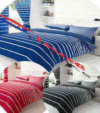 Linear Striped Bedding Duvet Pillow Cover Quilt Cover Complete Set Fitted Sheet
