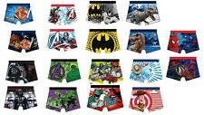 Boys Kids Official Character Underwear Boxer Trunks 4-10 years