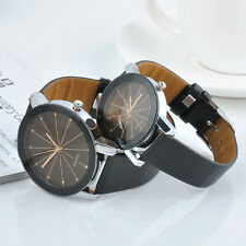 Men / women Watch Stainless Steel Leather Sports Watch Quartz Analog Wrist Watch