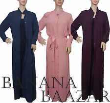♡♡ Maxi Summer Shirt ♡♡ Open Straight Cut Abaya Collar Dress Evening Cardigan