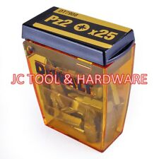 Dewalt PZ2  PH2 25 / 50mm Pozi Impact Screwdriver Phillips Tictac Bit Holder set