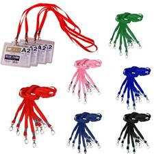 10Pcs Neck Strap Lanyard Holder String For ID Pass Card Key Metal Clasp 6 Color