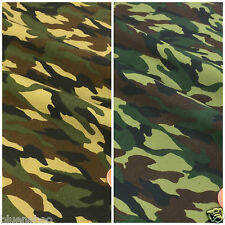 Camouflage print 100% cotton fabric  sold per fat quarter half metre or metre