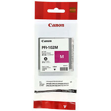 GENUINE CANON PROGRAF PFI-102M MAGENTA INK TANK CARTRIDGE (0897B001AA)