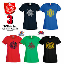 3 T-SHIRT zur Freien SCELTA NEGOZIO FRUIT OF THE LOOM LADY FIT valuew.t-