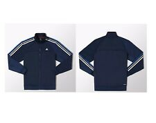 adidas Essentials 3-Stripes Poliestere Mens Navy giacca tuta Taglia S