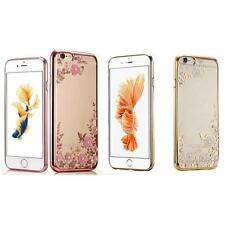 Neu Kristall TPU-Cover Hülle Bling Diamant und Blumen For iPhone iPhone 6/6S 4.7