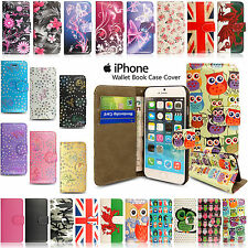 SLIM! Genuine PU Leather Flip Case Wallet Cover Apple iPhone 5 5SE 6S