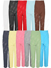T47 NEW PACK OF 2 WOMENS ELASTICATED WAIST BAND LADIES STRAIGHT LEG TROUSERS.