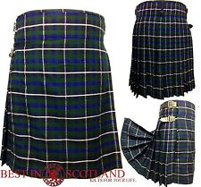 Men's Kilt DOUGLAS Tartan: 5 Yard Scottish Highland Dress Kilt Sizes 28 - 46