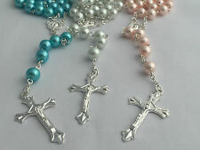 GIRLS/BOYS Baby Rosary Beads Catholic Wedding/Holy Communion/Flowergirl/Boy Gift