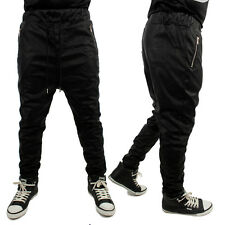 Sixth June Snake Skin Faux Leather Drop Crotch Bottoms Pants Tapered Fit Hip Hop