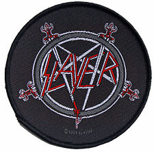 Slayer Swords Logo Round Sew On Patch New & Official Band Merch