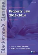 Blackstones Statutes on Property Law 2013-2014 (Blackstones Statute Series), , U