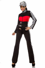 SeXy Boxenluder Racer Overall Zipper Grid Girl Formel 1 Fasching S M L 36 38 40