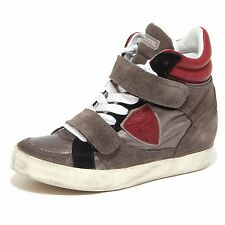 5528O sneaker donna PHILIPPE MODEL grigio/bordeaux scarpa shoe woman