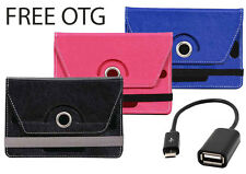 Tablet Book Flip Cover For Karbonn Smart 2/3 (Universal) with OTG Cable