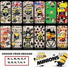 Case/Cover Apple iPhone 6s 6 5s 5 SE + Screen Protector / Minion Clear Hard Back